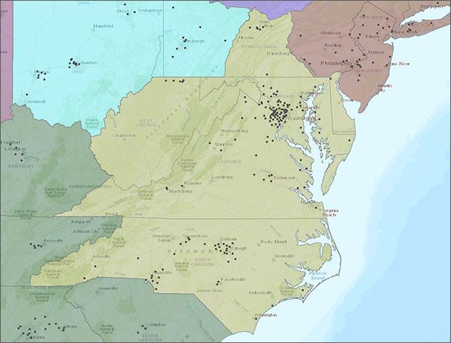 Potomac Region Map